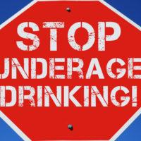 Sign -underaged drinking