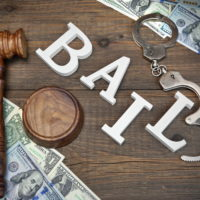 Bail letters with money on a table