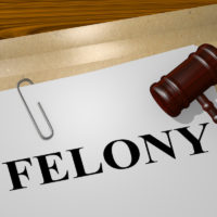 Felony file with gavel on top