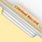Sealed criminal records in manila folder