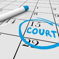 Court Case Day Jury Duty Calendar Date 3d Illustration